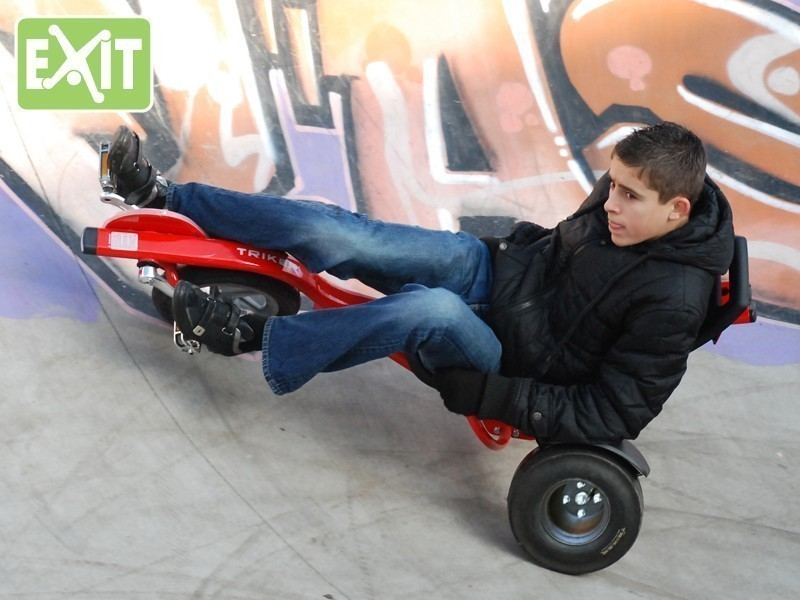 Gokart / Balance Bike / Dreirad EXIT Triker Pro 100 rot Bild 2