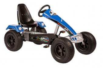 Gokart / Pedal-Gokart DINO CARS Stylez AF Breitreifen silber/blau Bild 1