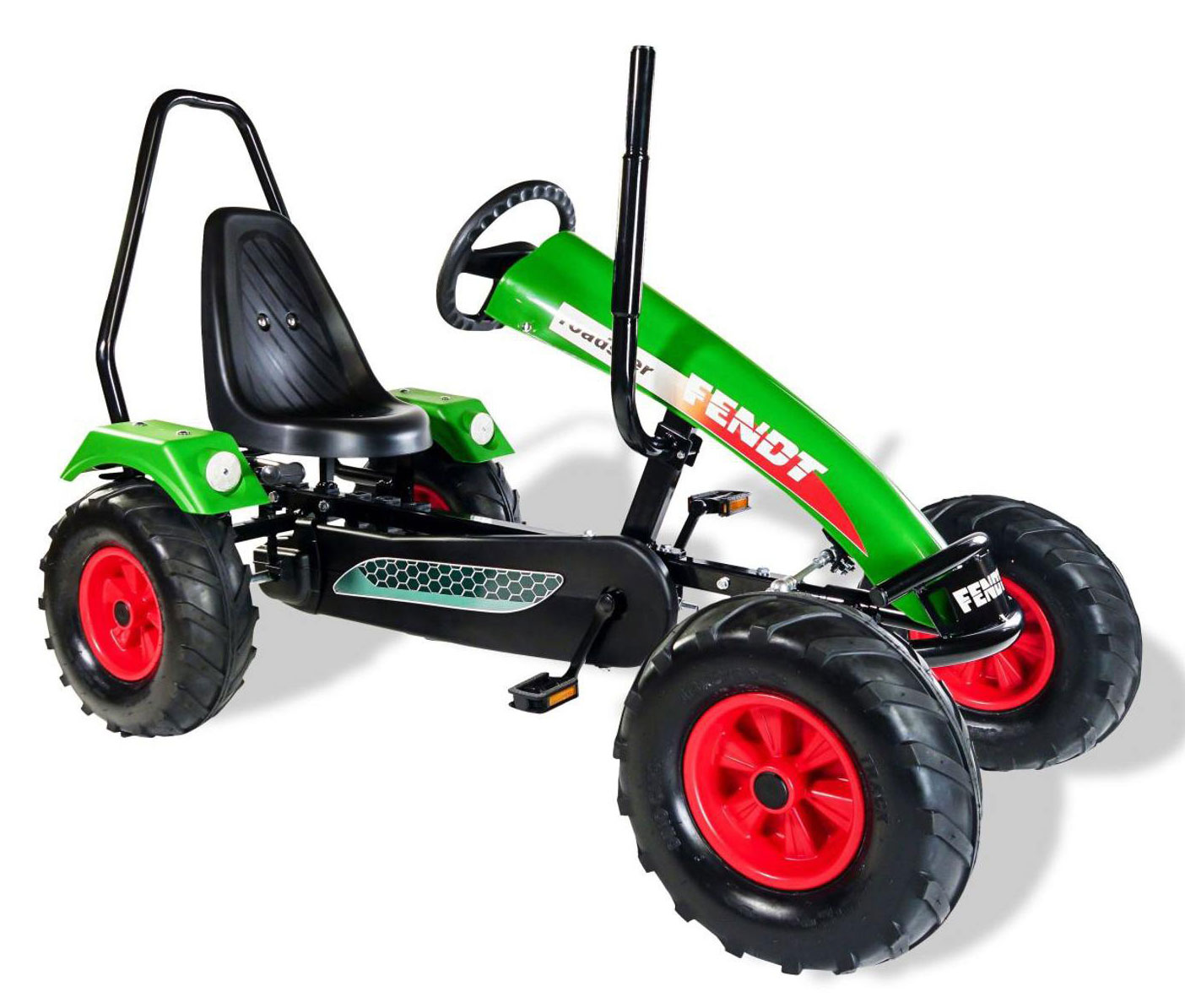 Gokart / Pedal-Gokart Track BF1 Fendt grün mit Überrollbügel DINO CARS Bild 1