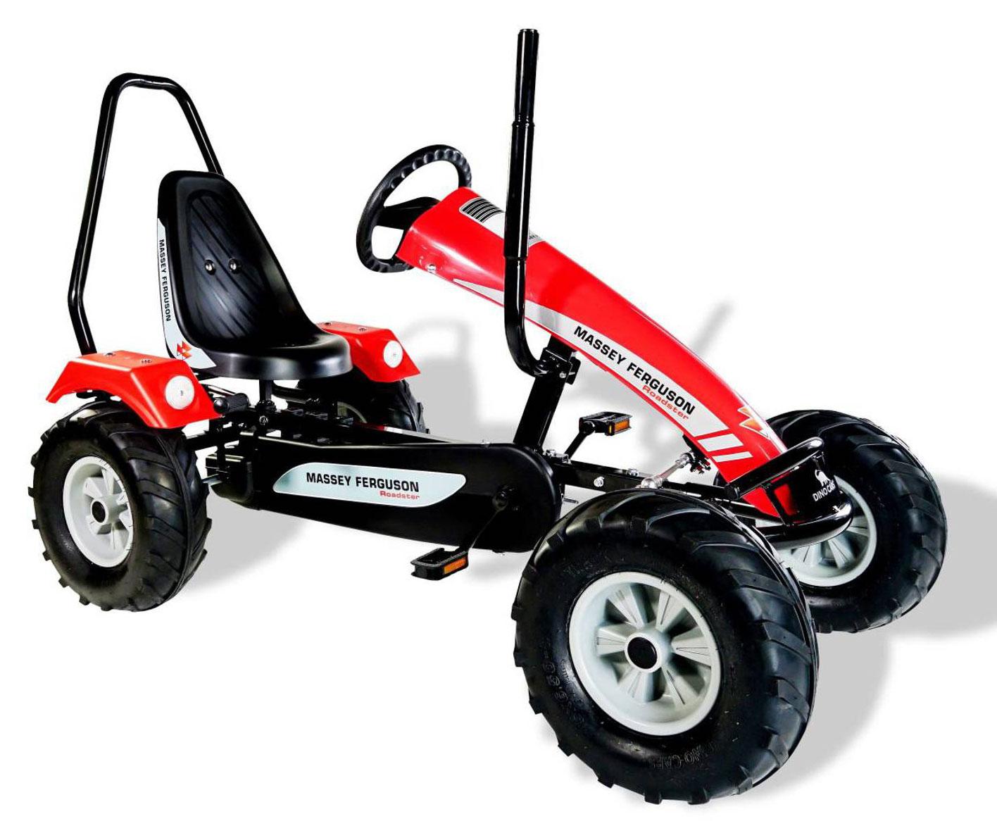 Gokart PedalGokart Track BF1 Massey Ferguson + Überrollbügel DINO CARS Bild 1