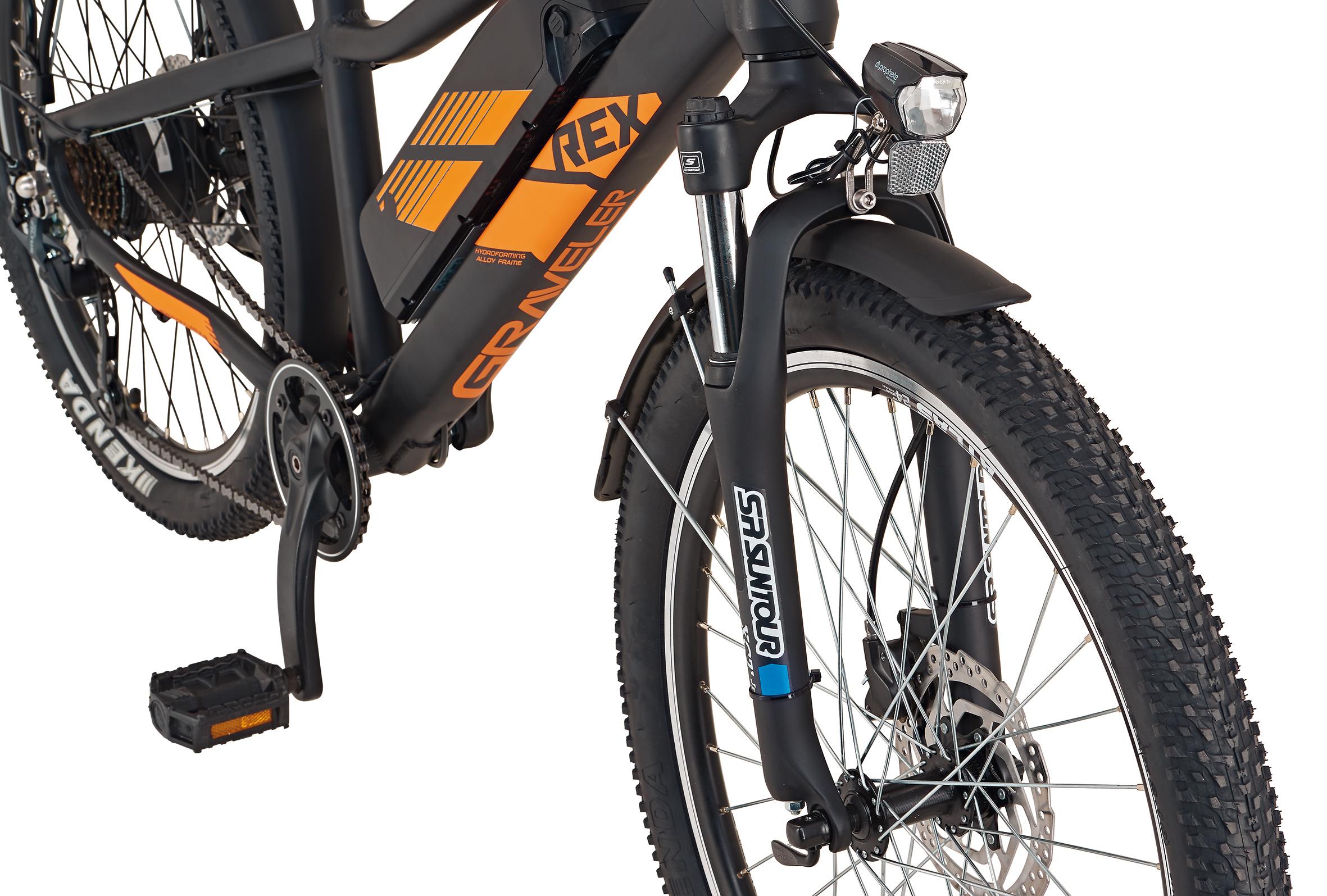 "Rex Bike Jugend Elektrofahrrad / E-All Terrain Bike Graveler Kids 24"" Bild 4"