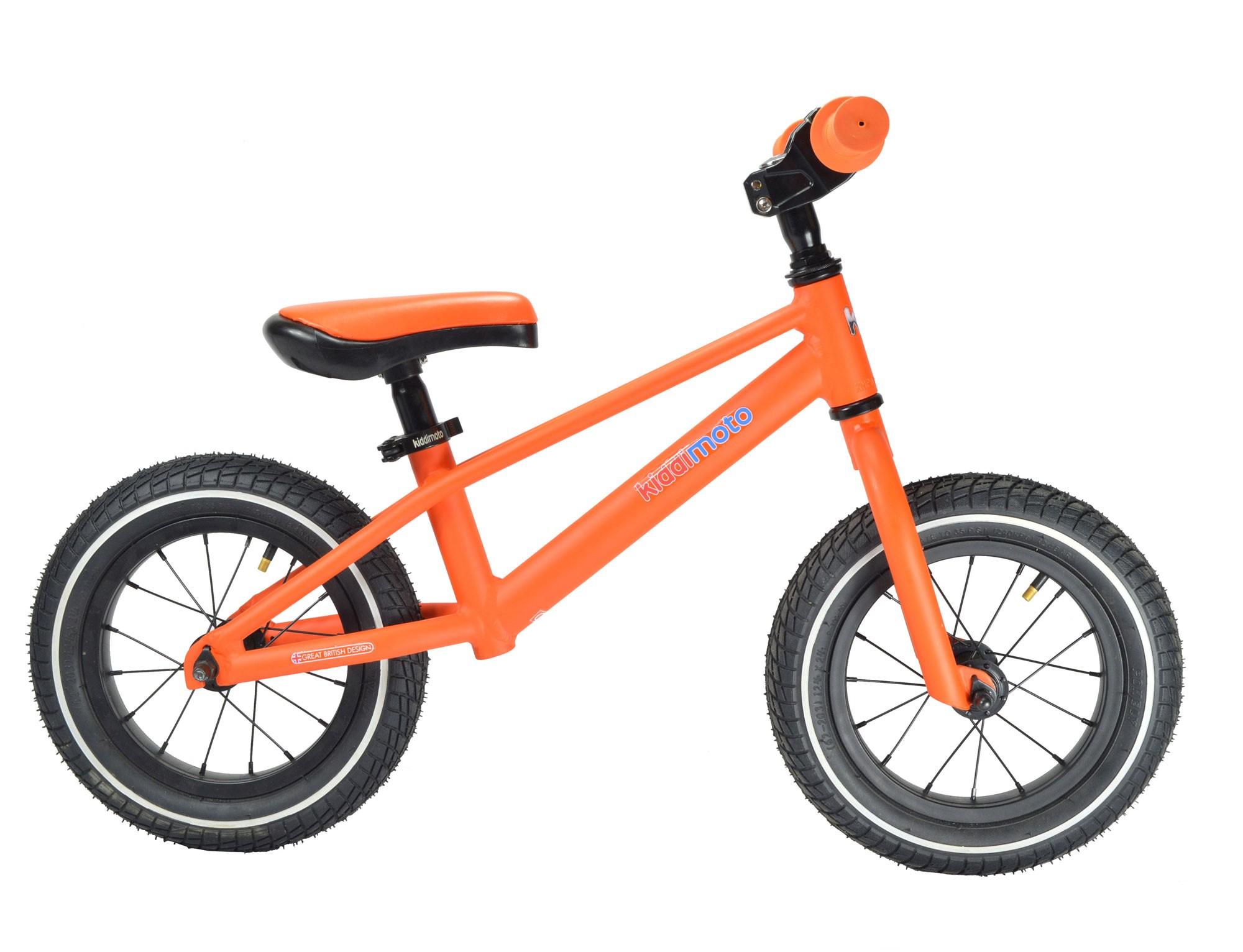 "kiddimoto Laufrad MT1 Mountainbike Design 12"" Luftbereifung orange Bild 2"