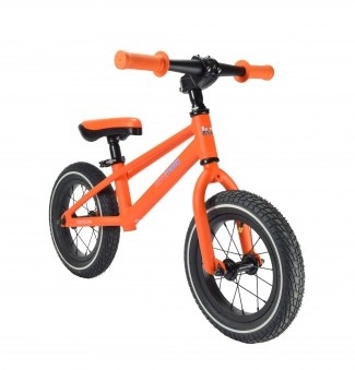 "kiddimoto Laufrad MT1 Mountainbike Design 12"" Luftbereifung orange Bild 1"