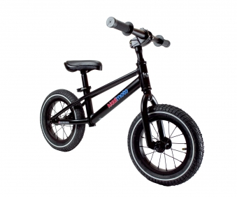 "kiddimoto Laufrad MT2 Mountainbike Design 12"" Luftbereifung schwarz Bild 1"