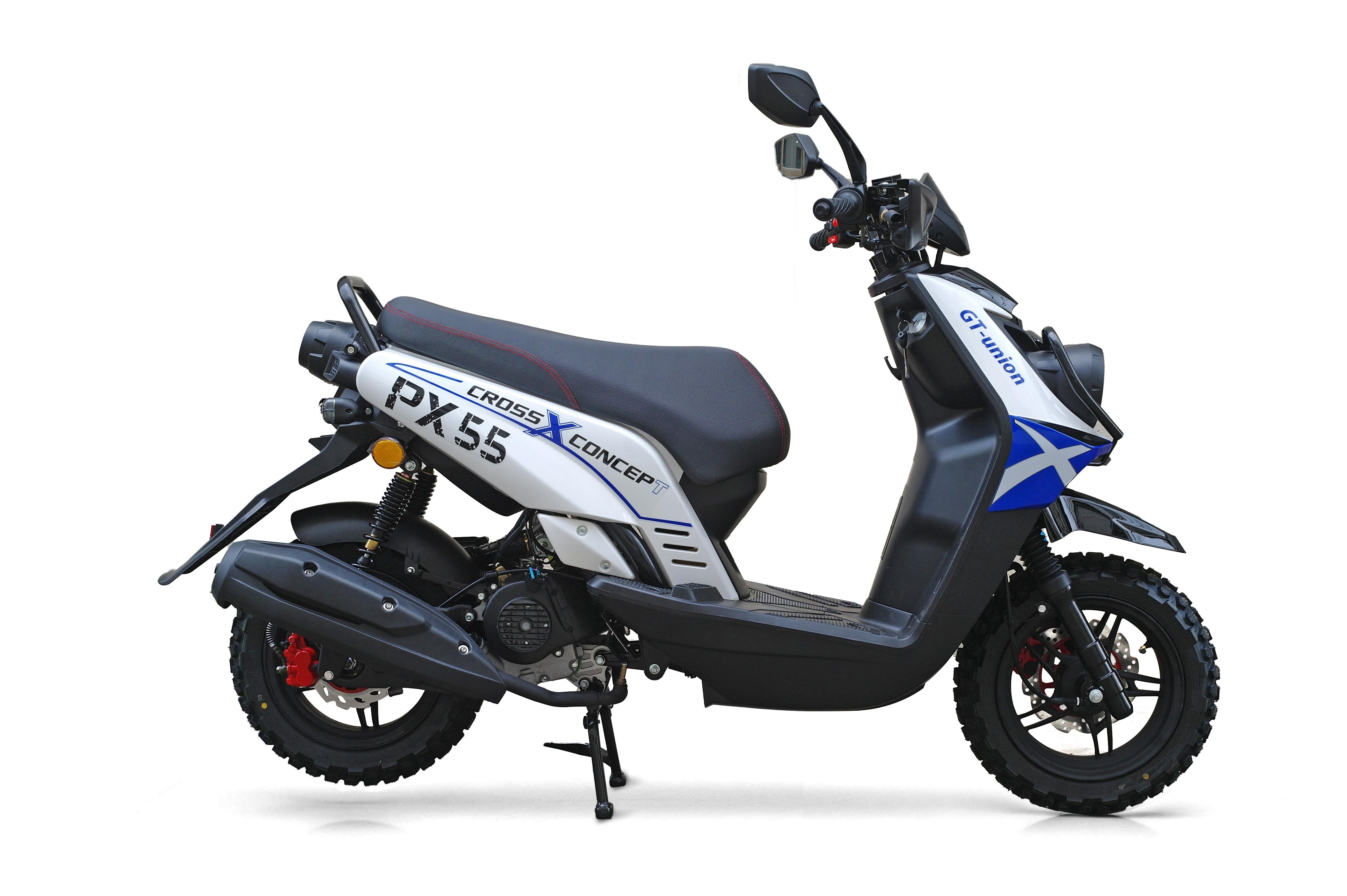 Motorroller / 4 Takt Moped BMX 4.0 50ccm 45KM/H blau Bild 3