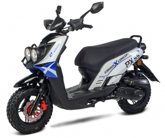 Motorroller / 4 Takt Moped BMX 4.0 50ccm 45KM/H blau Bild 1