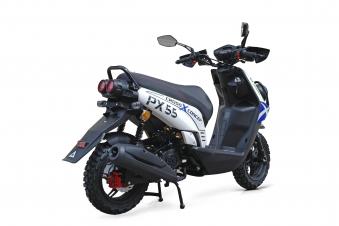 Motorroller / 4 Takt Moped BMX 4.0 50ccm 45KM/H blau Bild 4