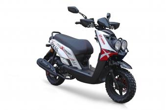 Motorroller / 4 Takt Moped BMX 4.0 50ccm 45KM/H rot Bild 1