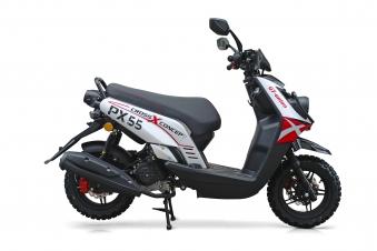 Motorroller / 4 Takt Moped BMX 4.0 50ccm 45KM/H rot Bild 2