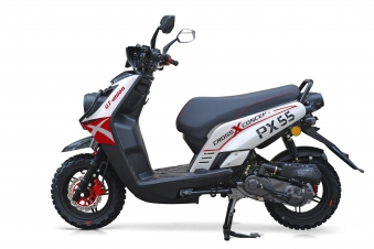 Motorroller / 4 Takt Moped BMX 4.0 50ccm 45KM/H rot Bild 3