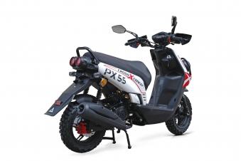 Motorroller / 4 Takt Moped BMX 4.0 50ccm 45KM/H rot Bild 4