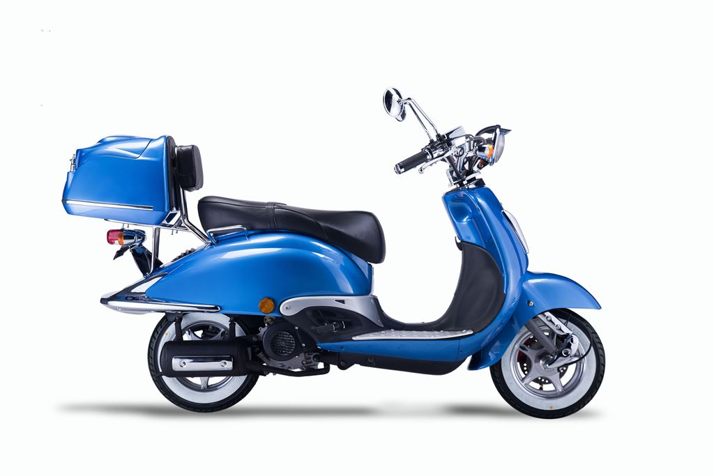 Motorroller, Moped, Mofa 50 ccm Klassik Azuro 4.0 blau Sitz schwarz Bild 5