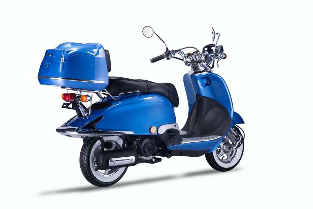Motorroller, Moped, Mofa 50 ccm Klassik Azuro 4.0 blau Sitz schwarz Bild 6