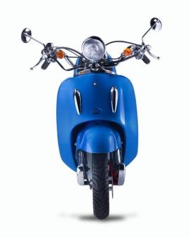 Motorroller, Moped, Mofa 50 ccm Klassik Azuro 4.0 blau Sitz schwarz Bild 4