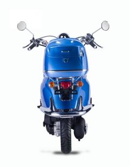 Motorroller, Moped, Mofa 50 ccm Klassik Azuro 4.0 blau Sitz schwarz Bild 7