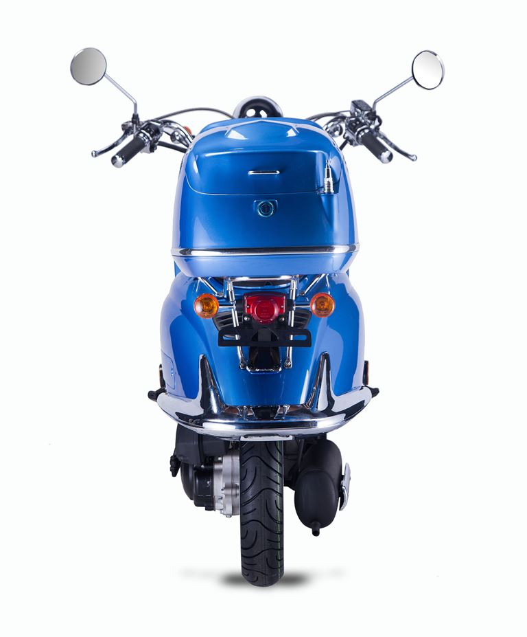 Motorroller, Moped, Mofa 50 ccm Klassik Azuro 4.0 blau Sitzbank braun Bild 7