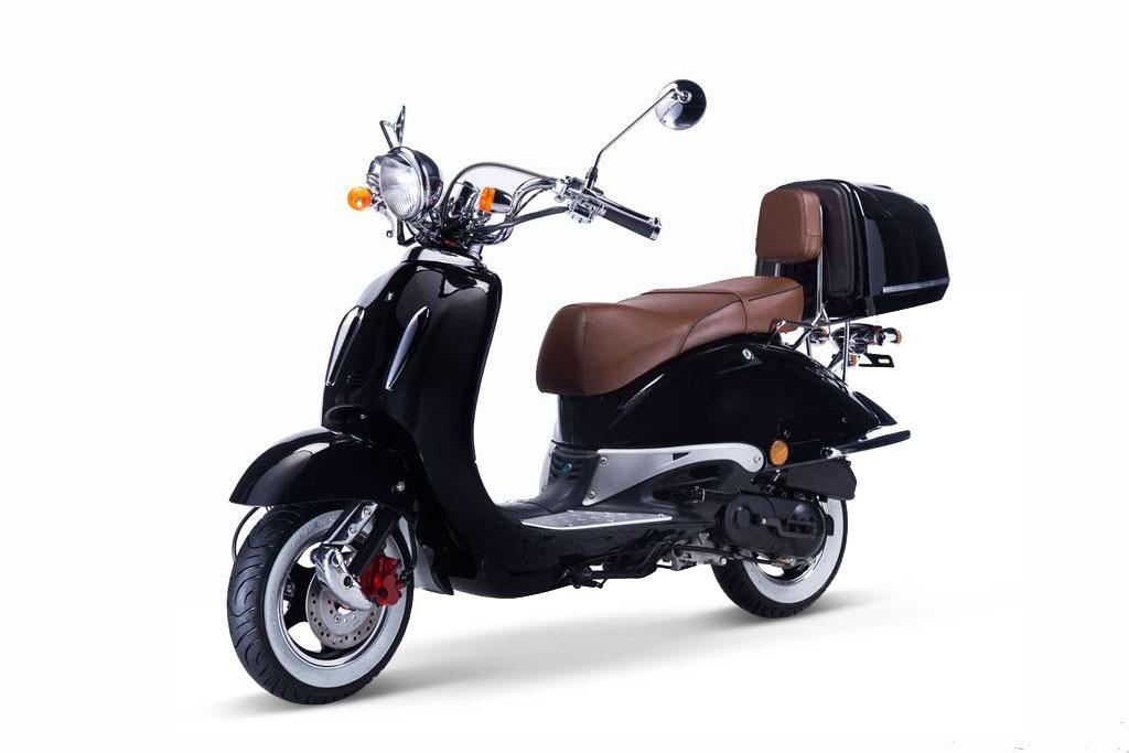 Motorroller, Moped, Mofa 50 ccm Klassik Florenz 4.0 schwarz-weiss Bild 3