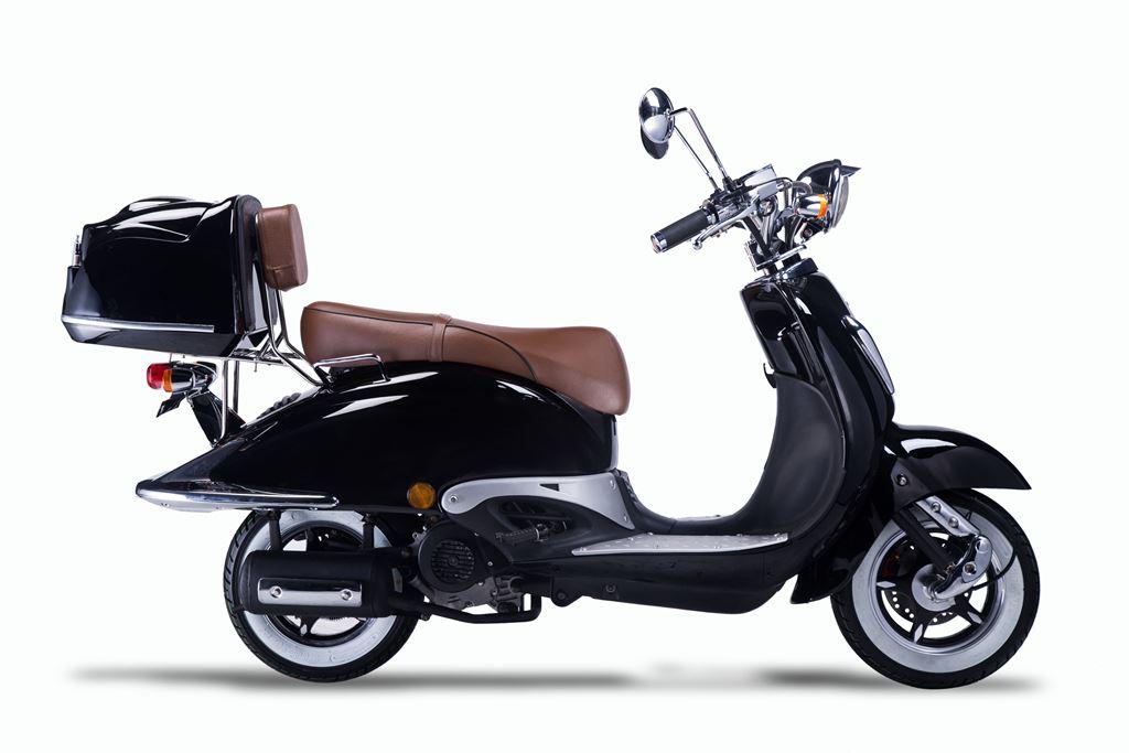 Motorroller, Moped, Mofa 50 ccm Klassik Florenz 4.0 schwarz-weiss Bild 5