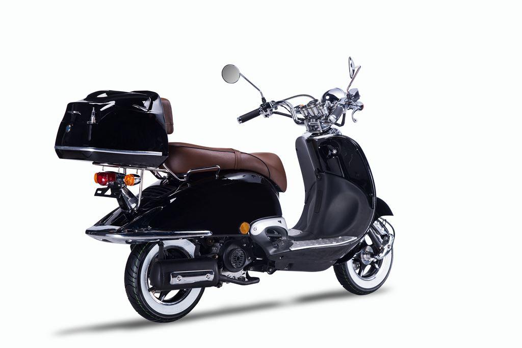 Motorroller, Moped, Mofa 50 ccm Klassik Florenz 4.0 schwarz-weiss Bild 6