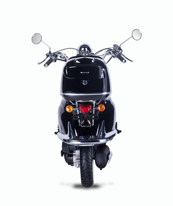 Motorroller, Moped, Mofa 50 ccm Klassik Florenz 4.0 schwarz-weiss Bild 7