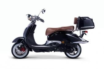 Motorroller, Moped, Mofa 50 ccm Klassik Florenz 4.0 schwarz-weiss Bild 1