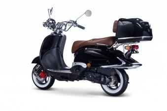 Motorroller, Moped, Mofa 50 ccm Klassik Florenz 4.0 schwarz-weiss Bild 2