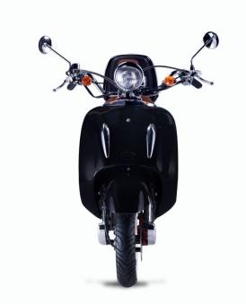 Motorroller, Moped, Mofa 50 ccm Klassik Florenz 4.0 schwarz-weiss Bild 4