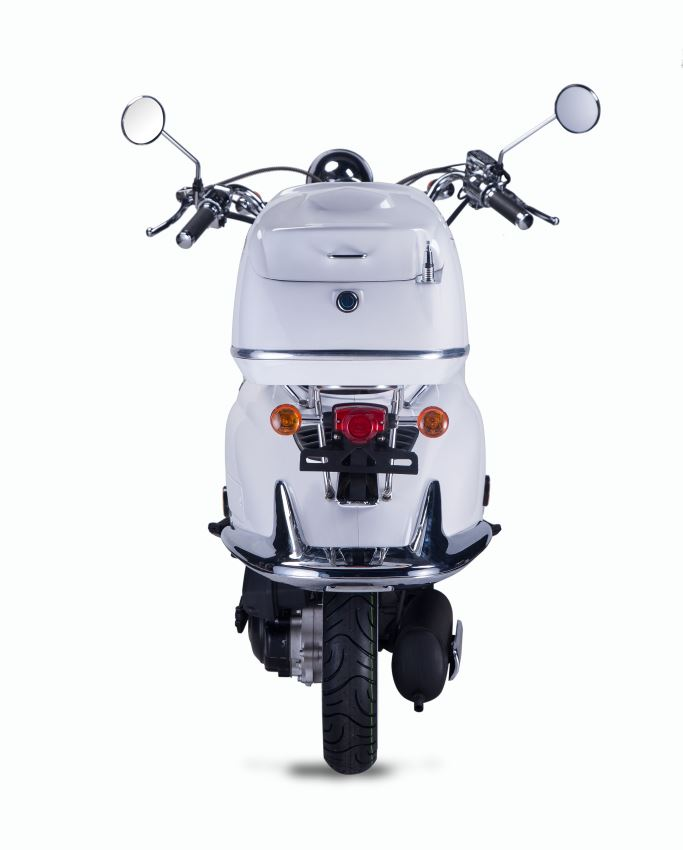 Motorroller, Moped, Mofa 50 ccm Klassik Monte 4.0 weiss-braun Bild 7