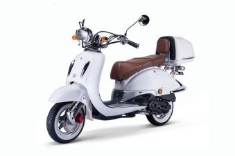 Motorroller, Moped, Mofa 50 ccm Klassik Monte 4.0 weiss-braun Bild 1