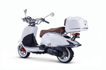 Motorroller, Moped, Mofa 50 ccm Klassik Monte 4.0 weiss-braun Bild 3