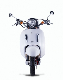 Motorroller, Moped, Mofa 50 ccm Klassik Monte 4.0 weiss-braun Bild 4