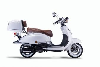 Motorroller, Moped, Mofa 50 ccm Klassik Monte 4.0 weiss-braun Bild 5