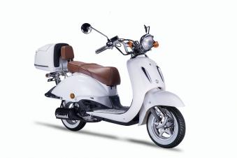 Motorroller, Moped, Mofa 50 ccm Klassik Monte 4.0 weiss-braun Bild 6