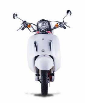 Motorroller, Moped, Mofa 50 ccm Klassik Monte 4.0 weiss-rot Bild 3