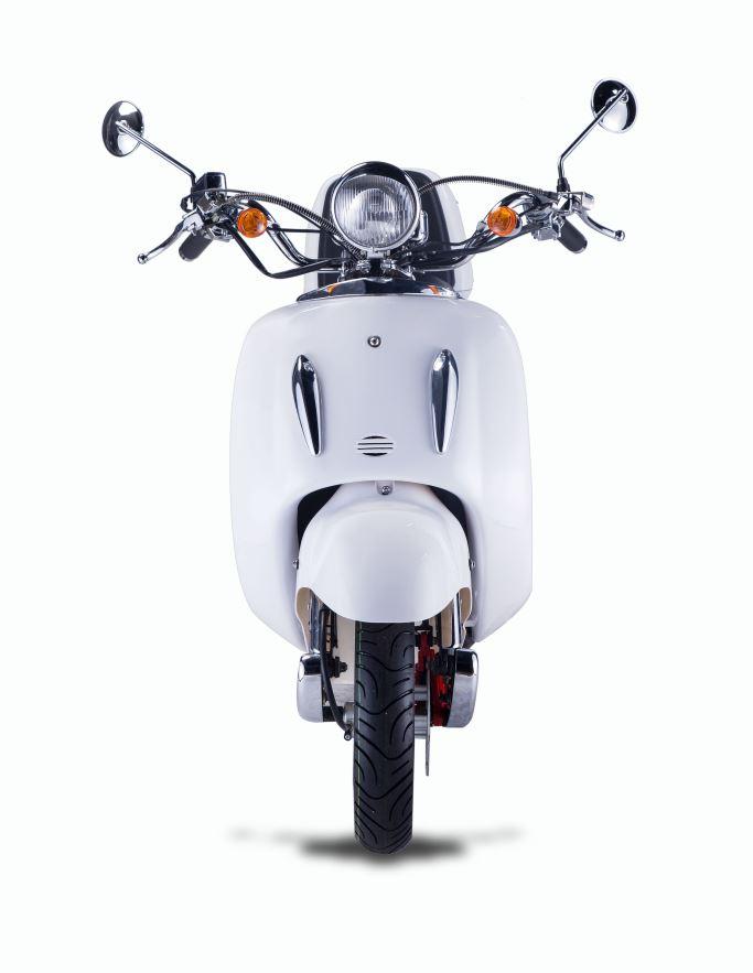 Motorroller, Moped, Mofa 50 ccm Klassik Monte 4.0 weiss-schwarz Bild 4