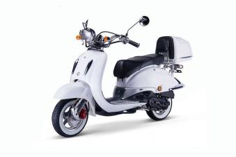 Motorroller, Moped, Mofa 50 ccm Klassik Monte 4.0 weiss-schwarz Bild 3