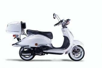 Motorroller, Moped, Mofa 50 ccm Klassik Monte 4.0 weiss-schwarz Bild 5