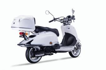 Motorroller, Moped, Mofa 50 ccm Klassik Monte 4.0 weiss-schwarz Bild 6