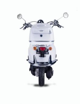 Motorroller, Moped, Mofa 50 ccm Klassik Monte 4.0 weiss-schwarz Bild 7