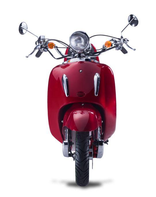 Motorroller, Moped, Mofa 50 ccm Klassik Vesuv 4.0 rot Sitzbank schwarz Bild 4