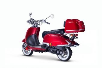 Motorroller, Moped, Mofa 50 ccm Klassik Vesuv 4.0 rot Sitzbank schwarz Bild 2