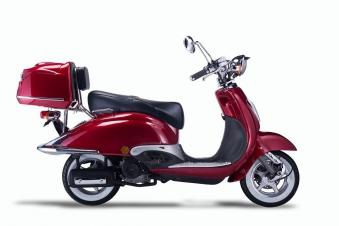 Motorroller, Moped, Mofa 50 ccm Klassik Vesuv 4.0 rot Sitzbank schwarz Bild 5