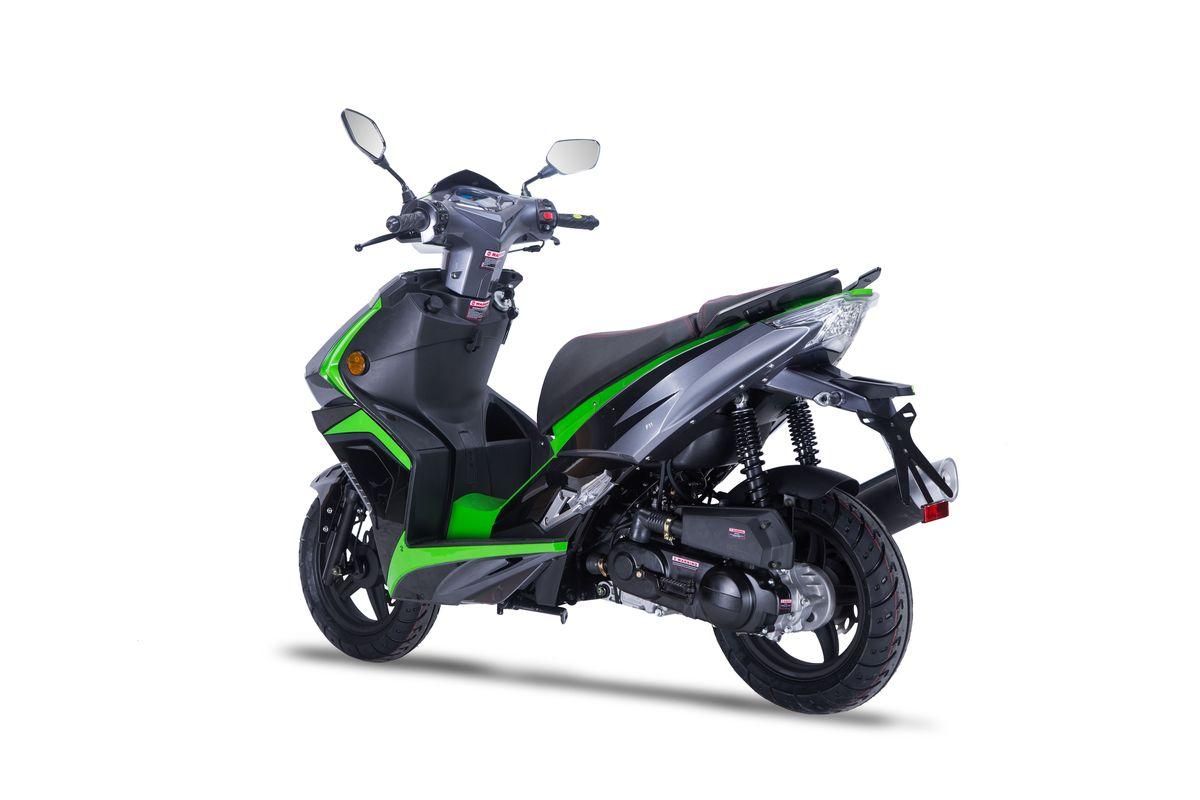 Motorroller Siegfried 50ccm 45km/h schwarz-grün Bild 1
