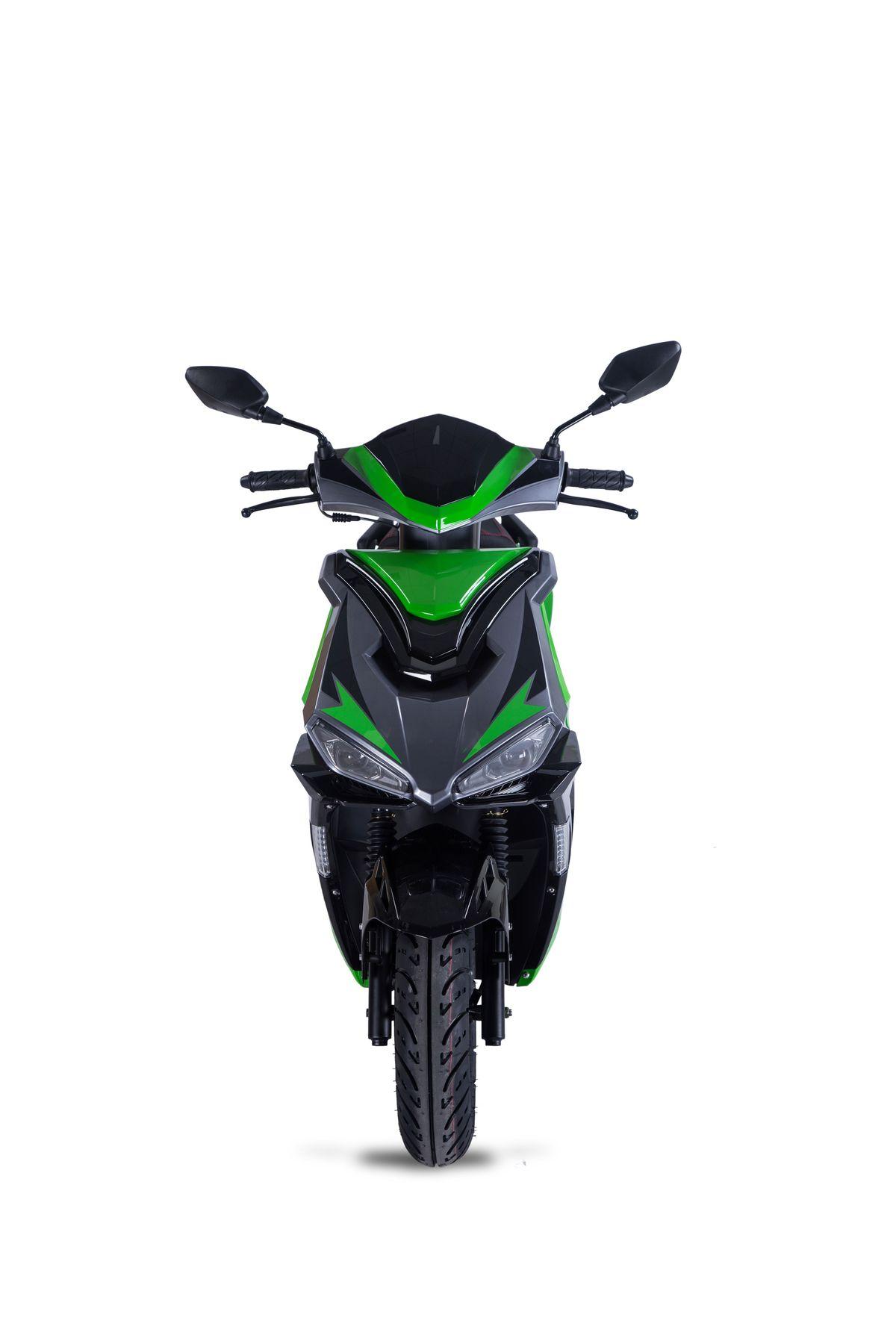 Motorroller Siegfried 50ccm 45km/h schwarz-grün Bild 3