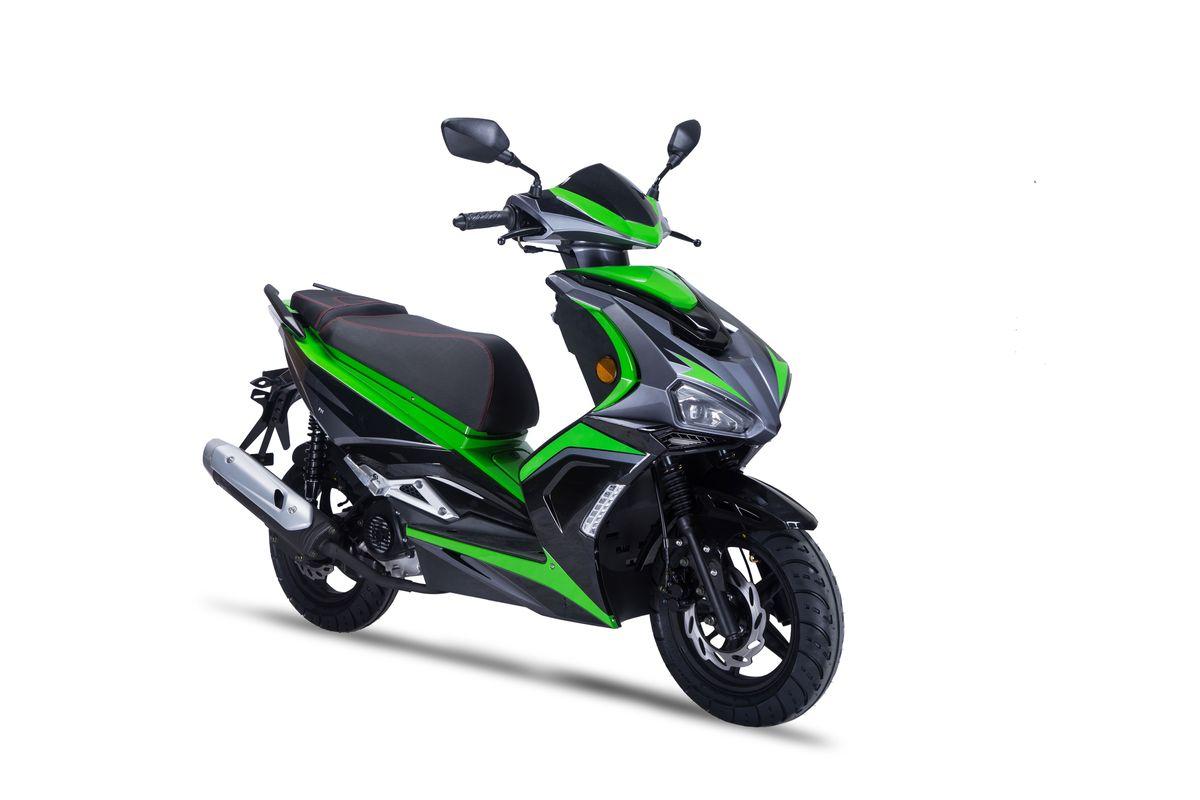 Motorroller Siegfried 50ccm 45km/h schwarz-grün Bild 4
