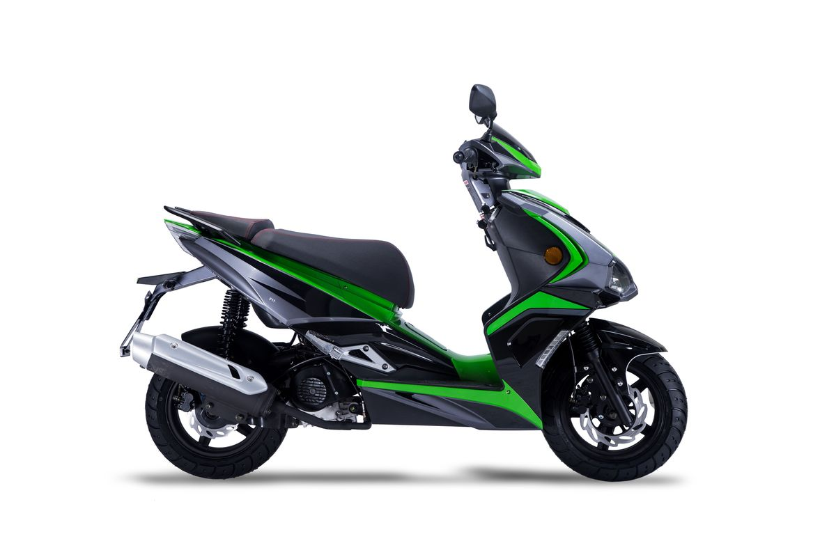 Motorroller Siegfried 50ccm 45km/h schwarz-grün Bild 5