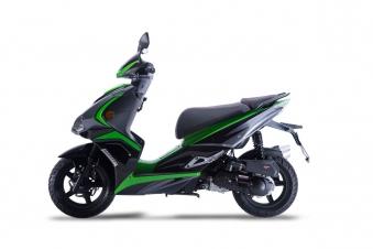 Motorroller Siegfried 50ccm 45km/h schwarz-grün Bild 2