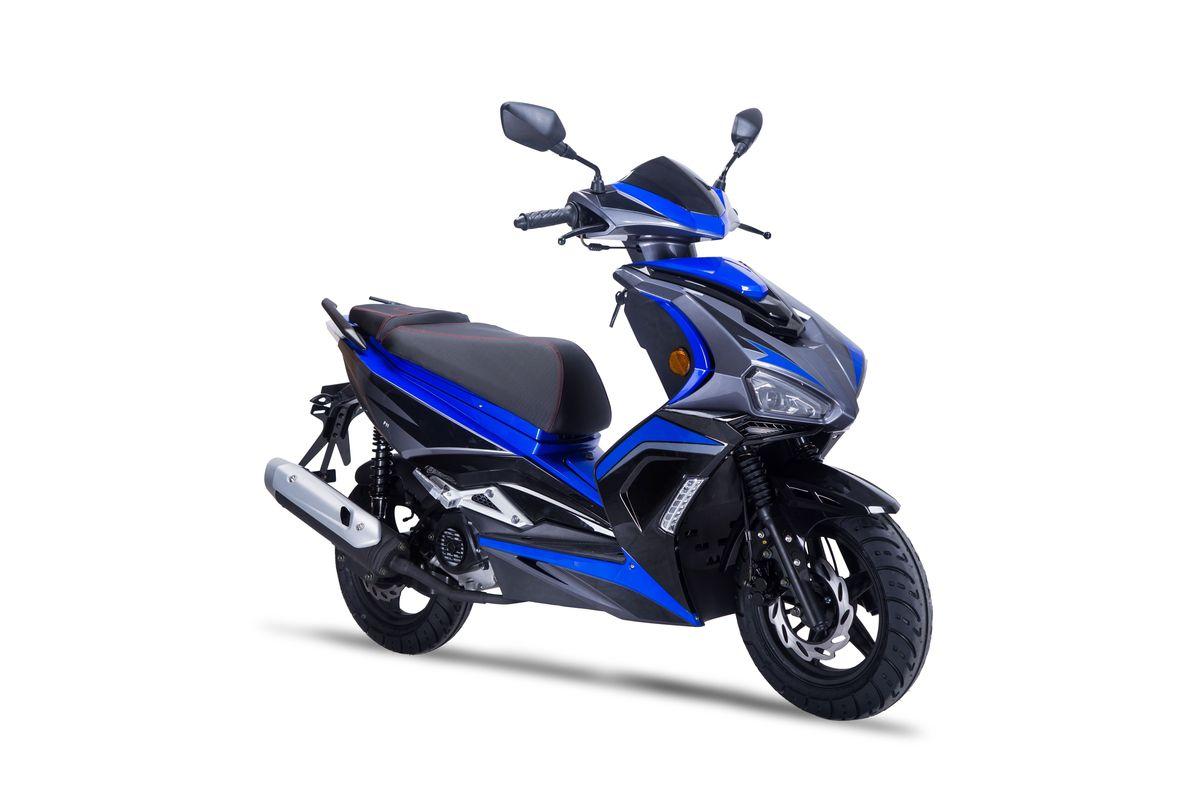 Roller / Moped / Mofa Siegfried 50ccm 45 km/h schwarz blau Bild 1