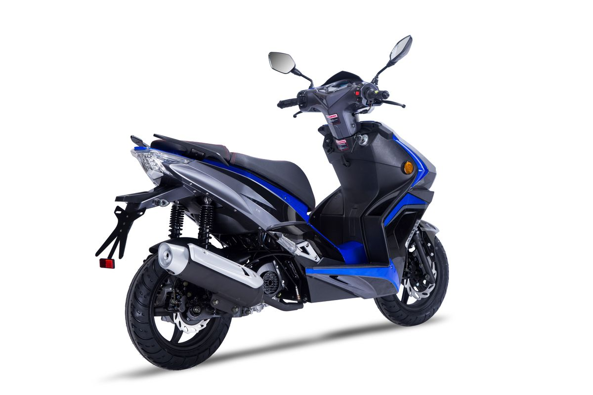Roller / Moped / Mofa Siegfried 50ccm 45 km/h schwarz blau Bild 2