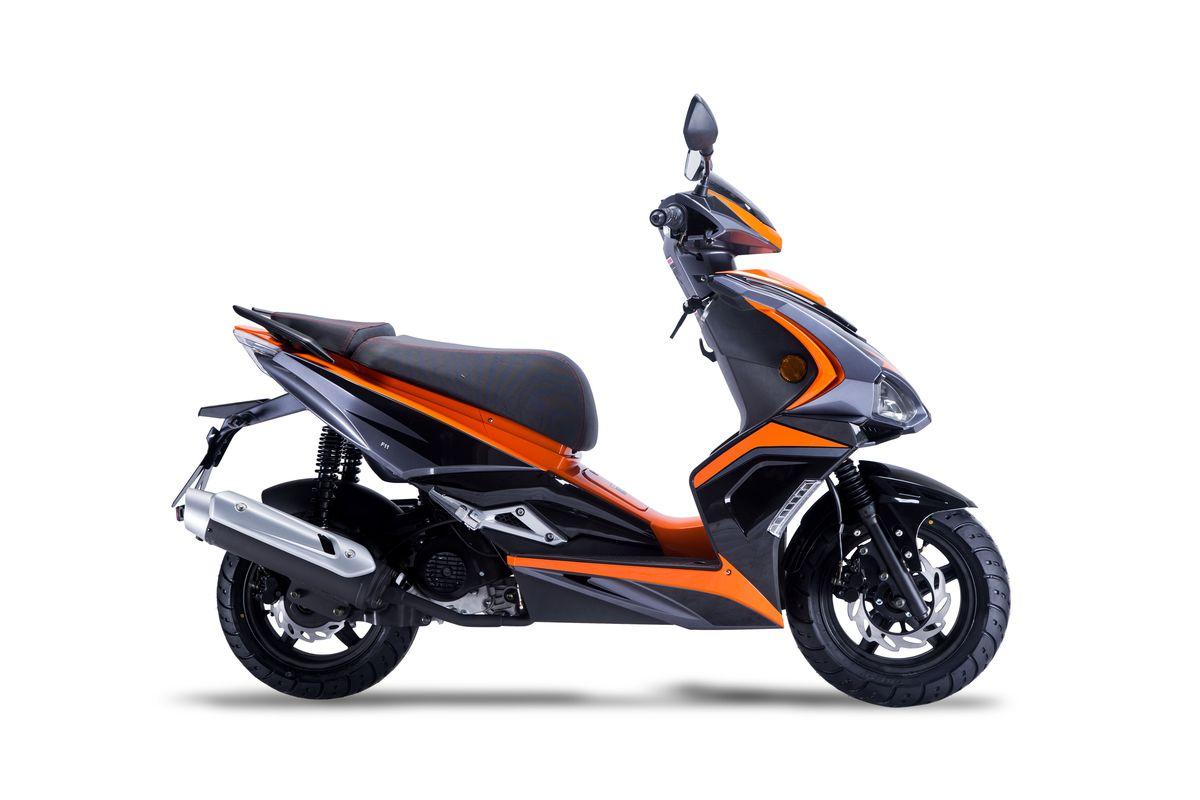 Roller / Moped Siegfried 50ccm 45km/h schwarz / orange Bild 4